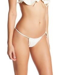 e3a9a16b99 Lyst - For Love   Lemons Etienne Lace Thong in Red