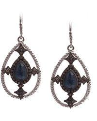 Armenta - New World Sterling Silver Black Opal & White Quartz Doublet & Pave Diamond Teardrop Earrings - Lyst