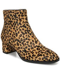 Via Spiga Vinson Leather Cheetah Print Bootie - Brown