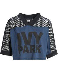 Ivy Park ® Mesh Mix Crop Tee - Blue
