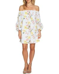 Cece by Cynthia Steffe - Off-the-shoulder Botanical Tunic Dress - Lyst