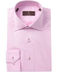 Robert Talbott Solid Classic Fit Dress Shirt - Pink