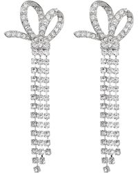 Jenny Packham - Pave Crystal Chain Fringe Bow Drop Earrings - Lyst