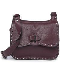 Aimee Kestenberg Happy Hour Studded Leather Saddle Bag - Purple
