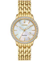 Citizen - Women's Diamond-accent Gold-tone Bracelet Watch - 0.0053 Ctw - Lyst