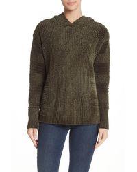 Pleione Oversized Cowl Neck Chenille Sweater - Green