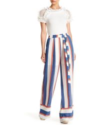 Gracia - Striped High Waist Trousers - Lyst