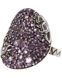 Stephen Dweck - Sterling Silver Pave Amethyst Statement Ring - Size 7 - Lyst