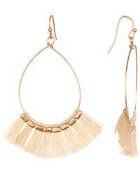 Panacea Tassel Hoop Earrings - White