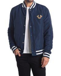 True Religion Varsity Crest Bomber Jacket - Blue