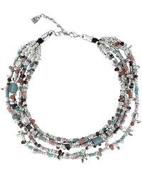 Uno De 50 Cosquillas Beaded Multi Strand Necklace - Metallic