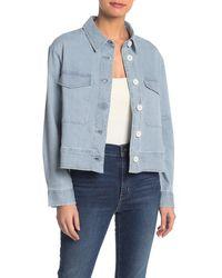 Caslon Railroad Stripe Jacket (regular & Petite) - Blue