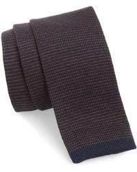 Eleventy - Stripe Wool Skinny Tie - Lyst