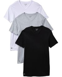 Lacoste V-neck Tee - Pack Of 3 - Gray