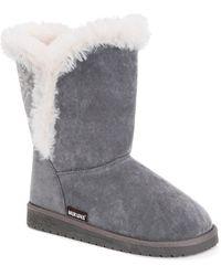 Muk Luks Carey Faux Fur Boot - Gray