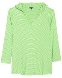 Splendid - Soft Sweet Striped Hoodie Cover-up Tunic - Lyst