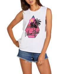 Volcom Stone Hour Muscle Tank - White