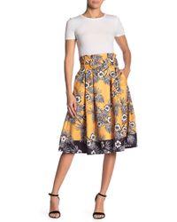 Jealous Tomato Floral Print Skirt - Yellow