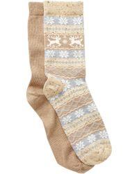 Hue - Fair Isle Boot Socks - Pack Of 2 - Lyst
