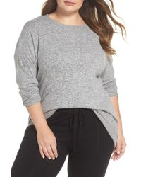 Gibson - X Living In Yellow Chelsea Shirttail Sweater (plus Size) (nordstrom Exclusive) - Lyst