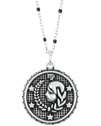 Argento Vivo Sterling Silver Virgo Zodiac Necklace - Metallic