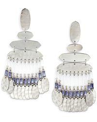 Kendra Scott Nicola Large Chandelier Earrings - Metallic