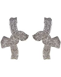 CZ by Kenneth Jay Lane - Cz Pave Bow Statement Earrings - Lyst