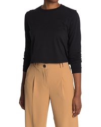 Thakoon Cropped Long Sleeve T-shirt - Black
