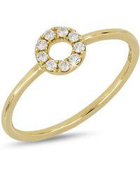 Bony Levy - 18k Yellow Gold Diamond Accent Open Circle Ring - Lyst
