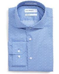 Calibrate - Trim Fit Dot Print Dress Shirt - Lyst