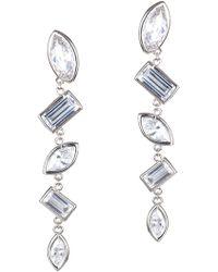 CZ by Kenneth Jay Lane - Multi Cz Vertical Bezel Earrings - Lyst