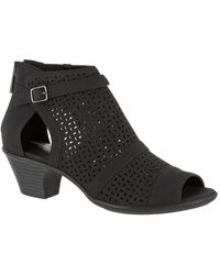 Easy Street Carrigan Cutout Bootie - Multiple Widths Available - Black