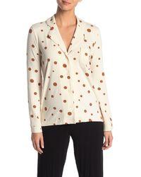 Madewell Polka Dot Pocket Pajama Top - Natural