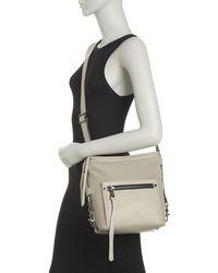 Aimee Kestenberg Misfit Perforated Leather Crossbody Bag In Elephant Gray At Nordstrom Rack