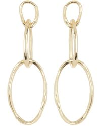 Argento Vivo 18k Gold Plated Sterling Silver Chain Link Earrings - Metallic
