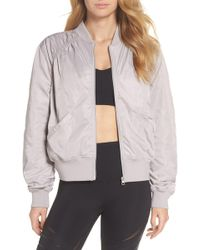 6f9ae5df6820 Zella - Luxury Bomber Jacket - Lyst