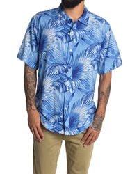 Tommy Bahama Forte Fronds Short Sleeve Shirt - Blue