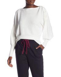 Laundry by Shelli Segal - Dolman Sleeve Zip Sweater - Lyst