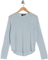 360cashmere Fadia Long Sleeve Knit Top - Blue