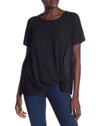 Pleione - Twisted Short Sleeve Blouse - Lyst