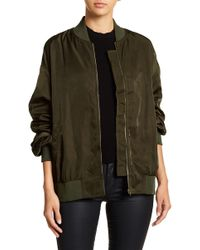 Do+Be Collection - Shirred Sleeve Bomber Jacket - Lyst