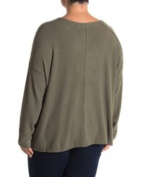 Heather by Bordeaux Seamed Brushed Hacci Sweater - Green
