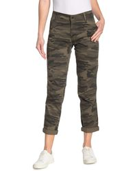 Lucky Brand The Cargo Camo Print Twill Pants - Green