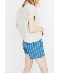 Madewell Ellendale Marled Short Sleeve Sweater Top - Blue
