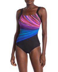 ba88fe7e7c Fire & Water One-piece Swimsuit - Multicolor