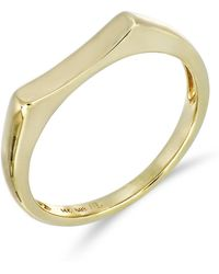 Bony Levy - 14k Yellow Gold Concave Bar Ring - Lyst