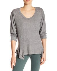 Current/Elliott - The Tier Long Sleeve Top - Lyst