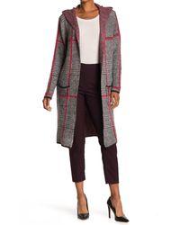 Joseph A Hooded Long Cardigan Sweater Coat - Multicolor