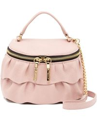 MILLY - Astor Ruffle Small Top Zip Crossbody - Lyst