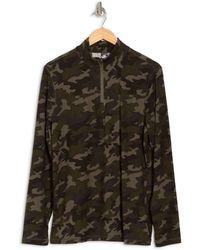 90 Degrees Half Zip Long Sleeve Pullover - Multicolor